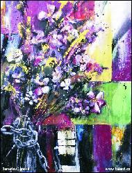 Název díla obrazu egocentrikem s láskou vázaná kytice lučního