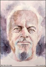 Karolína Borecká - Mike - watercolor