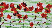 Red poppies 90x50cm